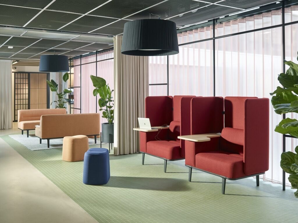 Comfy office space seating