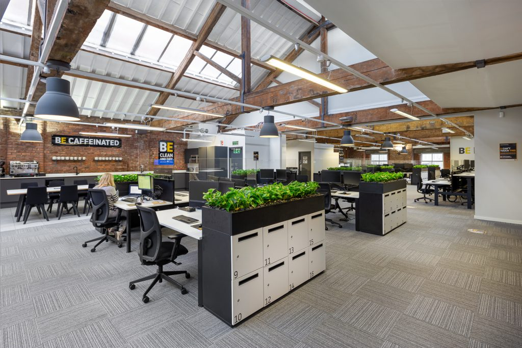 Spacious office space with great lighting