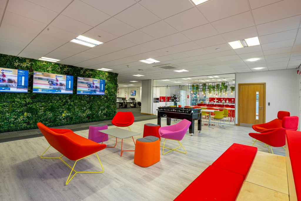 Moveable furniture in an open-plan office
